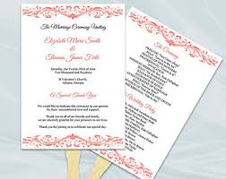 Wedding Program Paddle Fan Template Items Similar To Navy Wedding Program Fan Template Printable