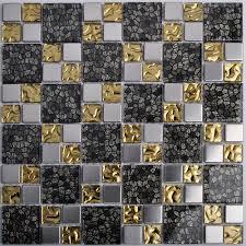 black silver golden shinning waterwave metal glass mosaics tstdl05