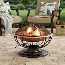 Copper Firepit Hammered Copper Pit With Tabletop Walmart