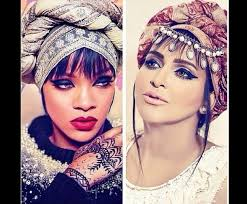 henna makeup scarf black henna makeup arab modal rihanna style wheretoget