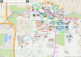 State Of Michigan Map by Campus Jogging Map Michigan State University