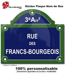 plaque numero rue sticker plaque de rue paris