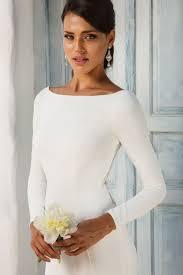 sleeve wedding dress style 8936 crepe sleeved wedding dress with beaded illusion
