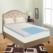 amazon com cool gel memory foam topper for full size mattress