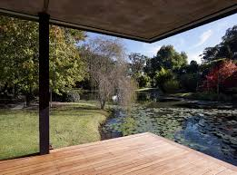 pond view wooden flooring glass pavilion in somersby australia