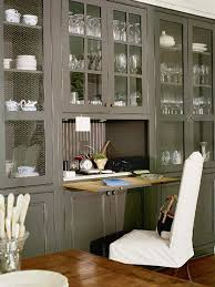 furnitures kitchen decor with glass cabinet and hideaway kitchen