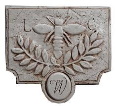 monogram plaques bee plaque bee d cor vintage d cor