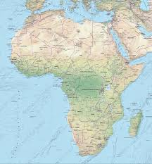 Physical Africa Map by Digital Map Africa Physical 628 The World Of Maps Com