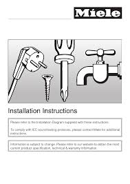 installation instructions 51 installation instructions miele g