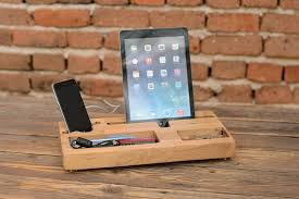 Upright Desk Organizer Wooden Organizer Desk Organizer Phone Station Stand
