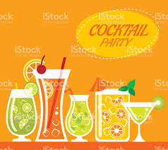summer cocktail party flat poster stock vector art 499405611 istock