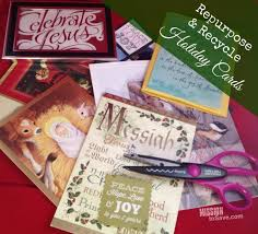 ways to repurpose and recycle holiday cards card displays