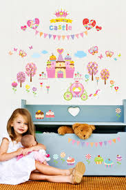 kids wall stickers for princess castle stickers wall decals kidswallstickers