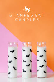 diy stamped bat candles tell love and partytell love and party