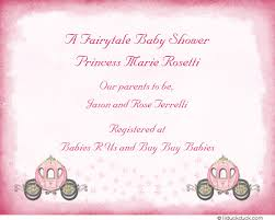 baby registry cards princess registry response card carriages theme insert fairytale