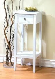 Small White Side Table White Wood And Glass Coffee Table Wood Small Side Table And Glass