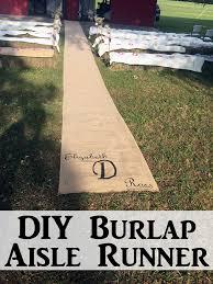 Burlap Wedding Aisle Runner Diy Burlap Aisle Runner Burlap Barn And Wedding
