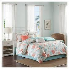 coral bedding sets queen target