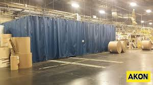 Industrial Curtain Wall Industrial Dust Control Curtains Akon U2013 Curtain And Dividers