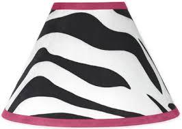 pink black u0026 white zebra print lamp shade