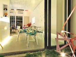 small terrace garden in modern townhouse at philippines picture