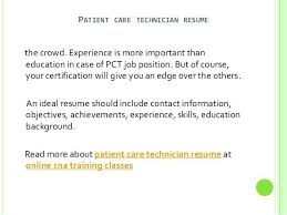 patient care resume patient care tech resumes patient care