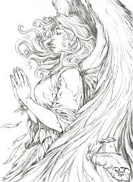get this printable hard coloring pages of angel for grown ups 56wov