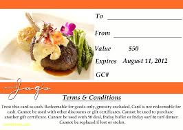 restaurant gift card template dinner voucher template restaurant gift certificates