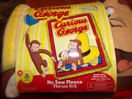 Curious George Curtains Curious George Monkey Collector No Sew Fleece Blanket Kit Rare Oop
