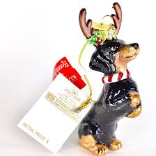 dachshund noble gems glass ornament kurt adler 4