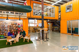 a dog friendly office with shipping containers design milk