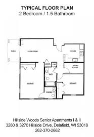 hillside floor plans hillside woods senior apartments delafield wi