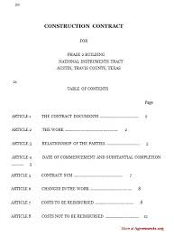 sample construction management agreement professional resumes