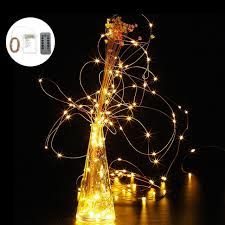 battery operated led string lights waterproof wireless remote control 8 modes waterproof 5meter 10meter warm white