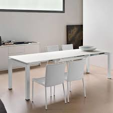 interior black glass countertop extendable desk by calligaris