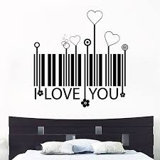 i love you barcode and hearts wall sticker world of wall stickers i love you barcode and hearts wall sticker decal a