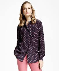 bow tie blouse printed crepe bow tie blouse brothers