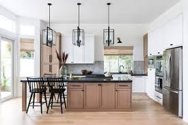 how to paint stained kitchen cabinets kitchen trend wood stained and painted cabinets home