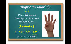 help learning times tables 3 s finger multiplication rhymes learn to multiply by 3 youtube