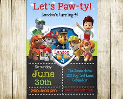 birthday invites chic paw patrol birthday invitations design