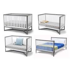 delta convertible crib toddler rail delta tribeca classic convertible 4 in 1 crib in white gray finish