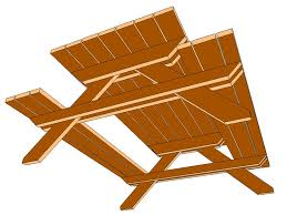 Best Picnic Tables Images On Pinterest Home Woodwork And - Picnic tables designs