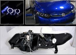 honda civic headlight 06 11 honda civic coupe black halo projector led headlights