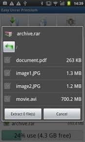 rar file opener apk easy unrar unzip and zip 3 4 for android