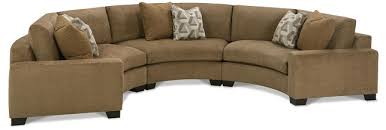 Curved Sectional Sofa Small Leather Sofa With Chaise Rounded Sectional Sofa