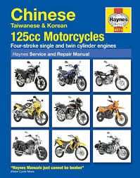 haynes motorcycle manual 4871 chinese taiwanese 125cc vmc