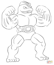 machoke coloring page free printable coloring pages