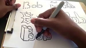 cool and easy ways to draw your name tutorial