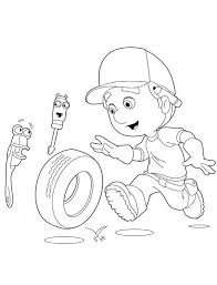 39 handy manny images coloring pages