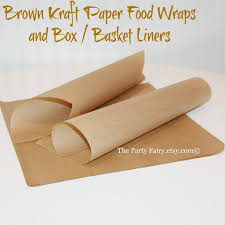 paper wraps brown kraft paper food wraps25 sandwich paperfood basket